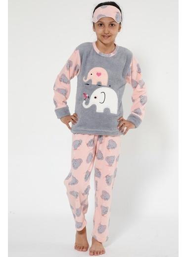 Akbeniz Welsoft Çocuk Pijama Takım Gri